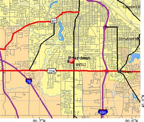 zip code map youngstown ohio boardman ohio zip code map zip code map