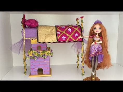 ever after high beds holly o hair doll bed remake ever after high youtube