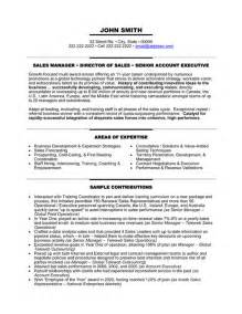 Senior Management Resume Templates by Senior Manager Resume Template Premium Resume Sles