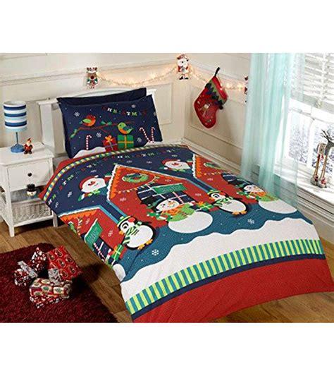 kids christmas bedding christmas duvet cover sets snowman santa reindeer emoji