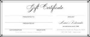 fine dining gift certificate marketing archive
