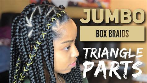 part 1 jumbo braids box braids youtube jumbo triangle box braids video black hair information