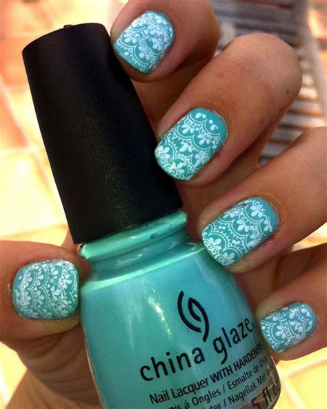 Lace Pattern On Nails | 20 fashionable lace nail art designs hative