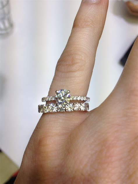 New fashion wedding ring: Thick wedding band thin engagement ring