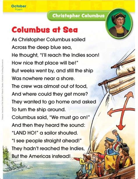christopher columbus brief biography best 25 rhyming poems ideas on pinterest