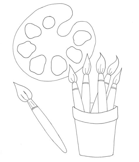 painter s palette coloring page wee folk