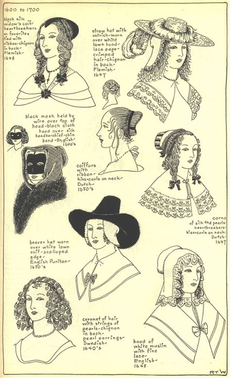 hairstyles of the 17th century 17th century hats and hair styles barroco 1617 1643
