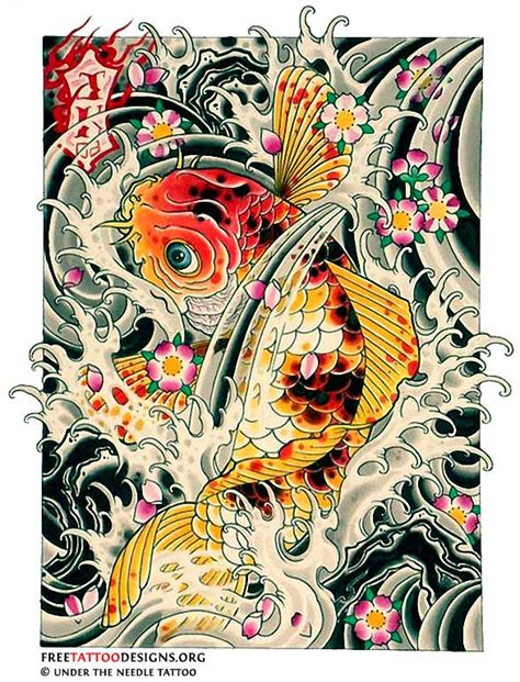 chinese fish tattoo designs japanese koi design www pixshark images