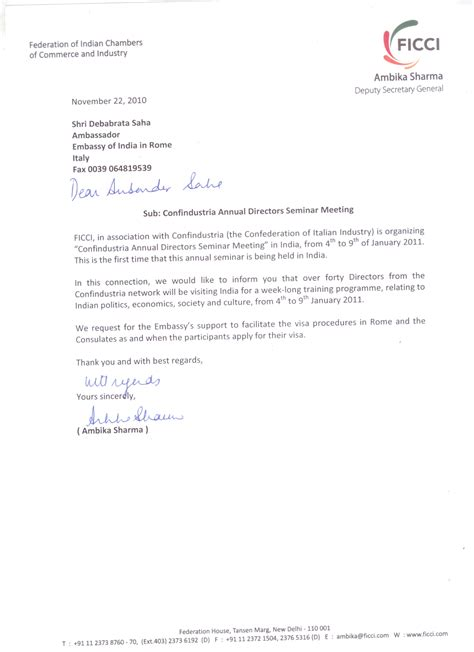 lettere di invito per turismo confindustria formazione dei direttori sistema