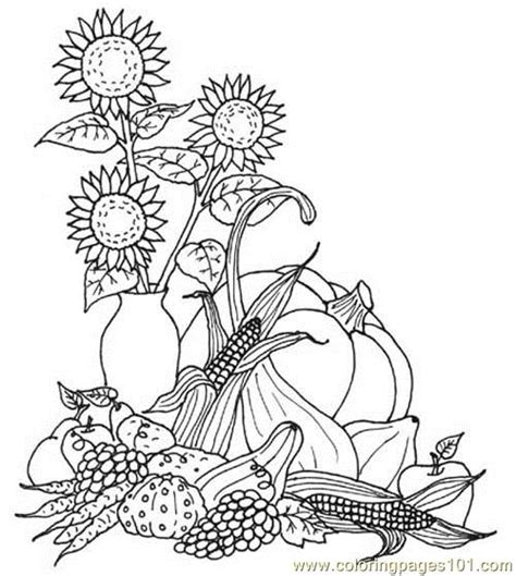 autumn harvest coloring pages coloring pages harvest natural world gt autumn free