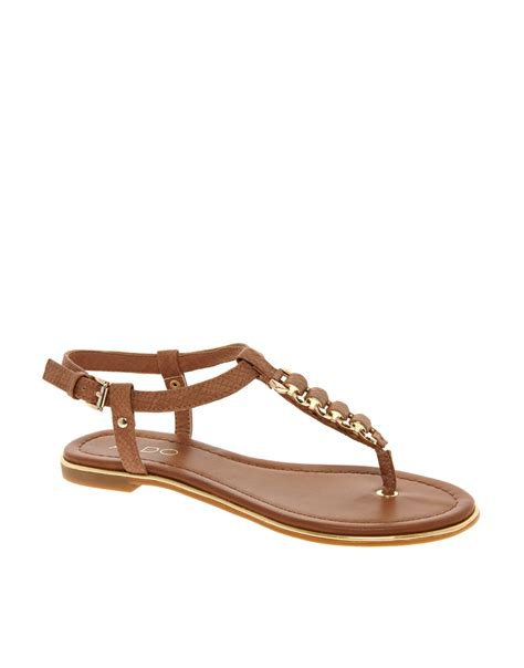 aldo brown sandals aldo mirallies sandals in brown lyst