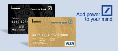 visa card deutsche bank deutsche bank card