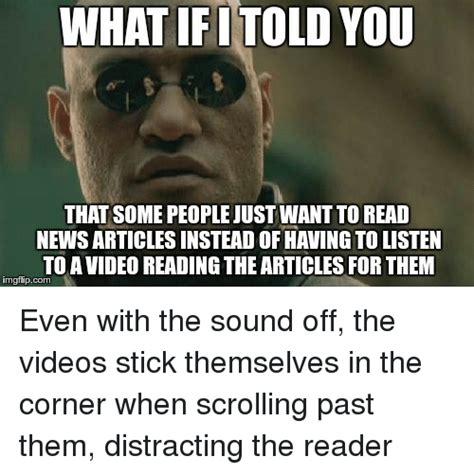 How To Read Meme - what ifitold you that some people just want to read news
