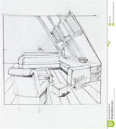 Room Design App Free attic living room stock illustration image 42978709