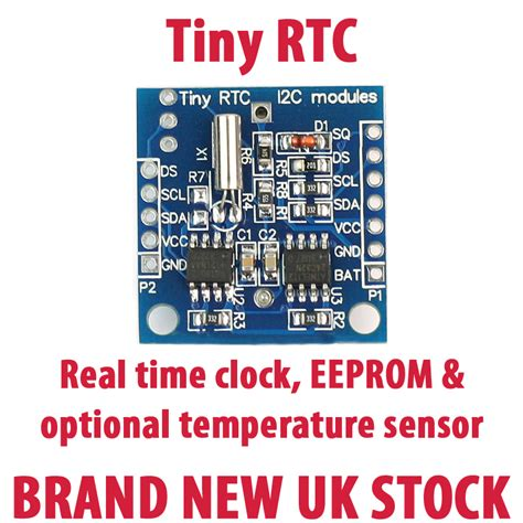 tiny rtc ds1307 ds18b20 real time clock module pic avr