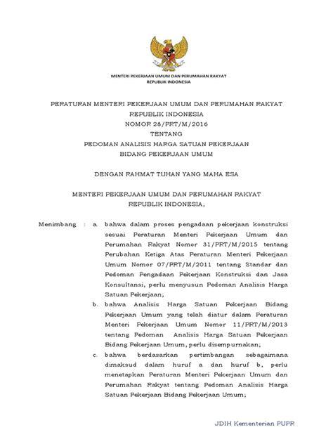 estatuto 2016pdf scribd permenpupr28 2016 pdf