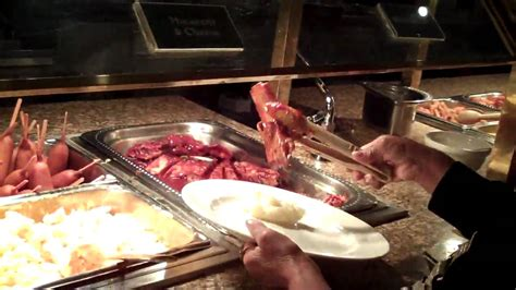 the excalibur hotel buffet youtube
