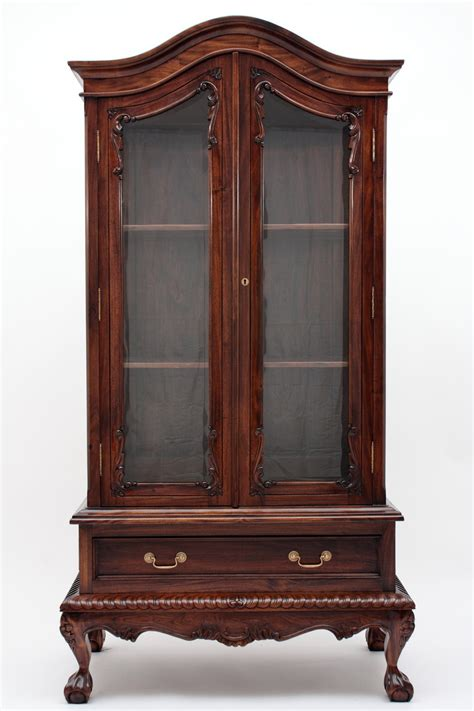 Chippendale China Cabinet by Chippendale China Cabinet Handmade Mahogany Wood Curios