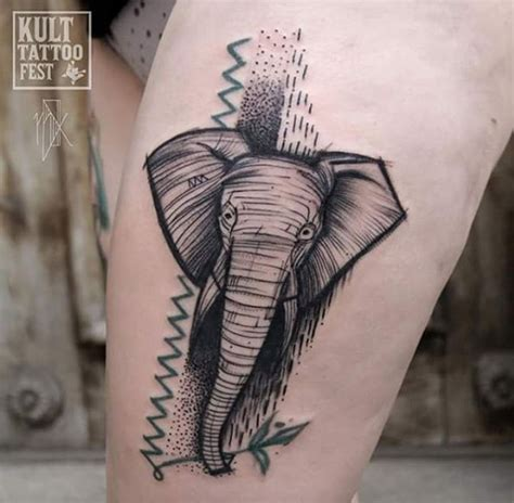 elephant kissing tattoo 51 exceptional elephant tattoo designs ideas tattooblend