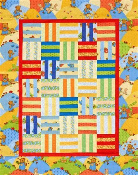 Rail Fence Baby Quilt Pattern by Rail Fence Baby Quilt Sewing Quilting