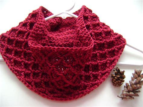 pattern crochet free free pattern diamond crochet cowl