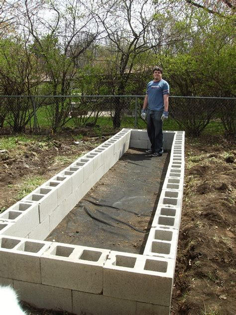 Above Ground Planter Beds by Diy Cinder Block Raised Garden Bed The Owner Builder Network