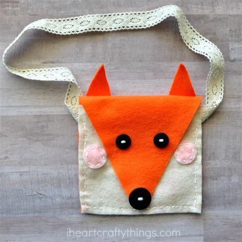 diy felt fox purse sewing craft i crafty things