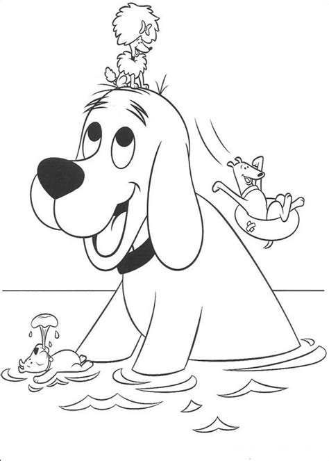 coloring page clifford big red dog clifford coloring pages coloring pages to print