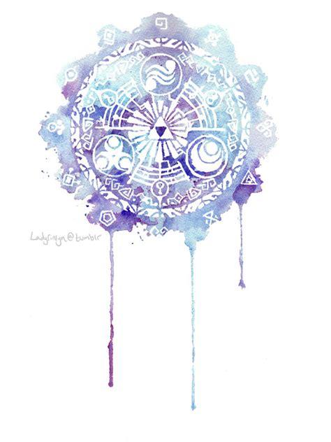 watercolor tattoo zelda skyward sword legend of twilight princess watercolor