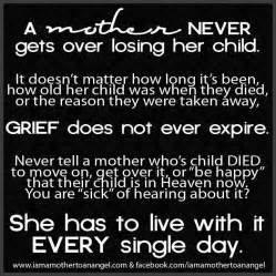 grieving loss of child http