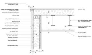 Flat Roof Section Detail by Flat Roof Design Detail Detail Drawings