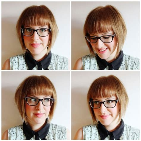 bob haircuts and glasses blunt bob and bangs fringe hairstyle for girls with