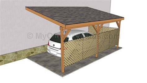 carport blueprints how to build an attached carport plans woodguides