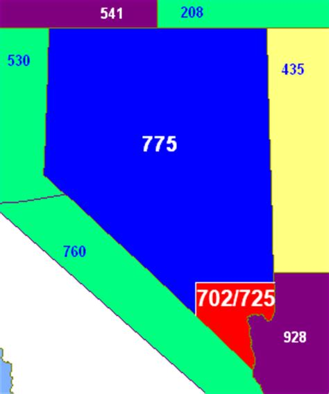 Area Code 702 Lookup Area Codes 702 And 725