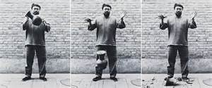 Colored Vases Ai Weiwei Man Smashes 1m Ai Weiwei Vase At Miami Museum Videos