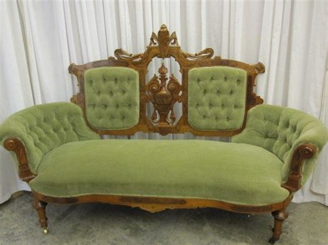 antique victorian couch price guide antique walnut victorian style button tuck sofa chaise for
