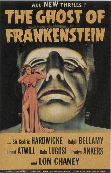 Poster Classic Vintage Frankenstein the ghost of frankenstein vintage horror posters