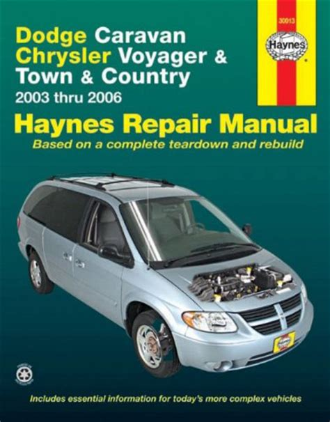 best car repair manuals 1998 chrysler town country interior lighting dodge caravan chrysler voyager town country 2003 thru 2006 haynes repair manual at