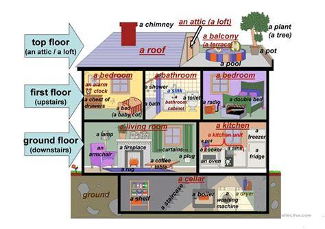 Bedroom Description Exercises Detached House Description Worksheet Free Esl