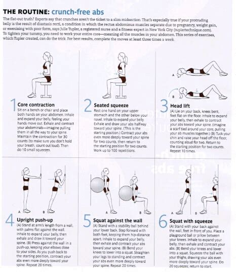 the belly pooch get in shape fitness exercise diastasis recti exercises