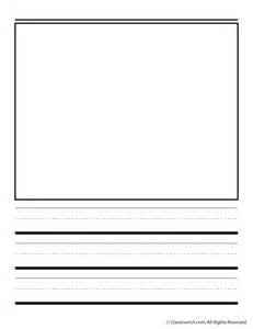 Kindergarten Writing Paper With Picture Box Handwriting Paper With Box Portrait Woo Jr Kids