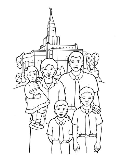 lds coloring pages families can be together forever 1000 images about for kids lds primary on pinterest