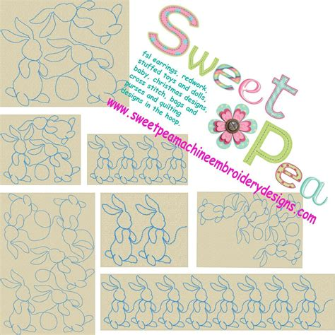 Machine Embroidery Quilting by Easter Sweet Pea