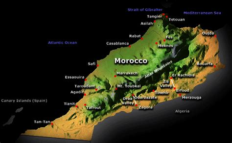 physical map of morocco free printable maps physical map of africa printfree