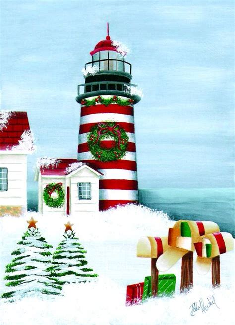 pin lighthouse christmas cards on pinterest