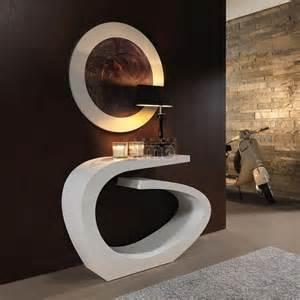 console entr 233 e design moderne laque miroir assorti