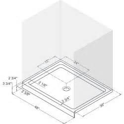 standard shower base dimensions slimline shower base shower tray