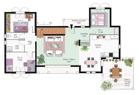 Vaste Maison De Plain Pied D 233 Du Plan De Vaste stunning plan de maison de luxe plain pied gallery