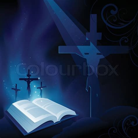 Velisa Cross Blouse Fn holy bible and jesus on the cross background stock vector colourbox