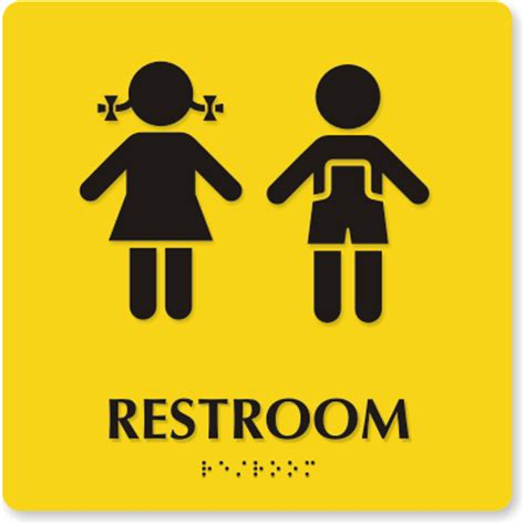boy and girl bathroom signs boy girl signs clipart best